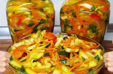 Новий та дуже смачний салат з кабачків на зиму. Просто пальчики оближеш