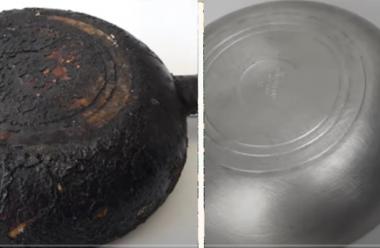 Дієвий метод, який допоможе без великих зусиль відчистити до блиску сковорідку