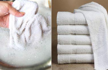Розчин, який без зайвих зусиль відбілить рушники, та зробить їх знову чистими та білосніжними