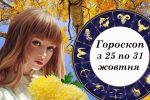 Детальний гороскоп для всіх знаків зодіаку з 25 по 31 жовтня. Яким буде цей тиждень для кожного з нас