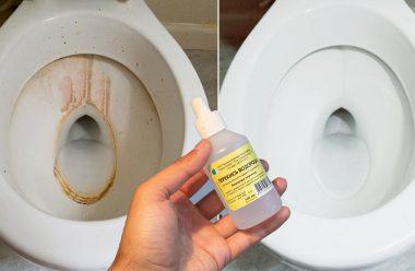 Дієвий засіб, який без зайвих зусиль відчистить унітаз від іржі та на вапняного нальоту
